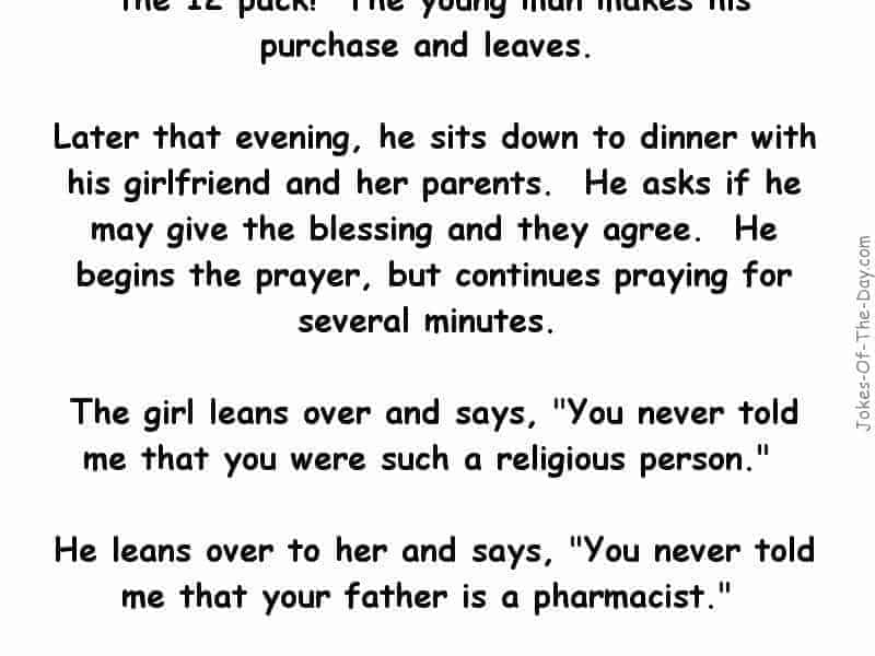 funny joke about a boy buying condoms