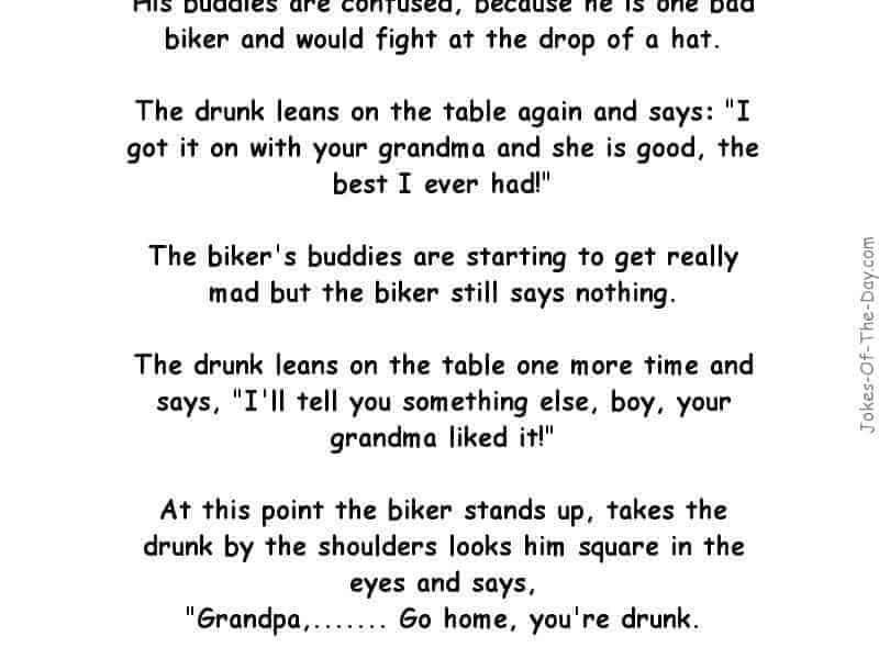 funny biker bar joke