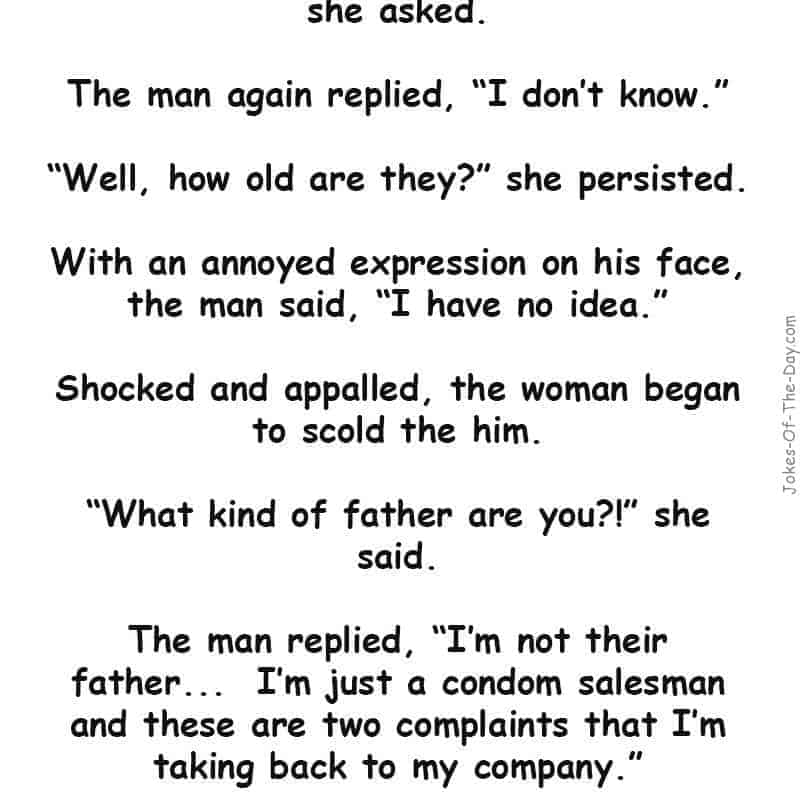 Complaints By A Salesman Funny Joke Of The Day Jokes Of