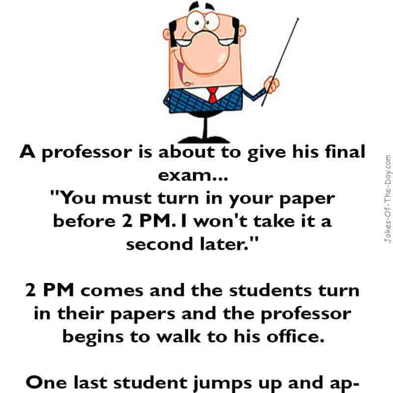 funny school joke about turning in an exam paper