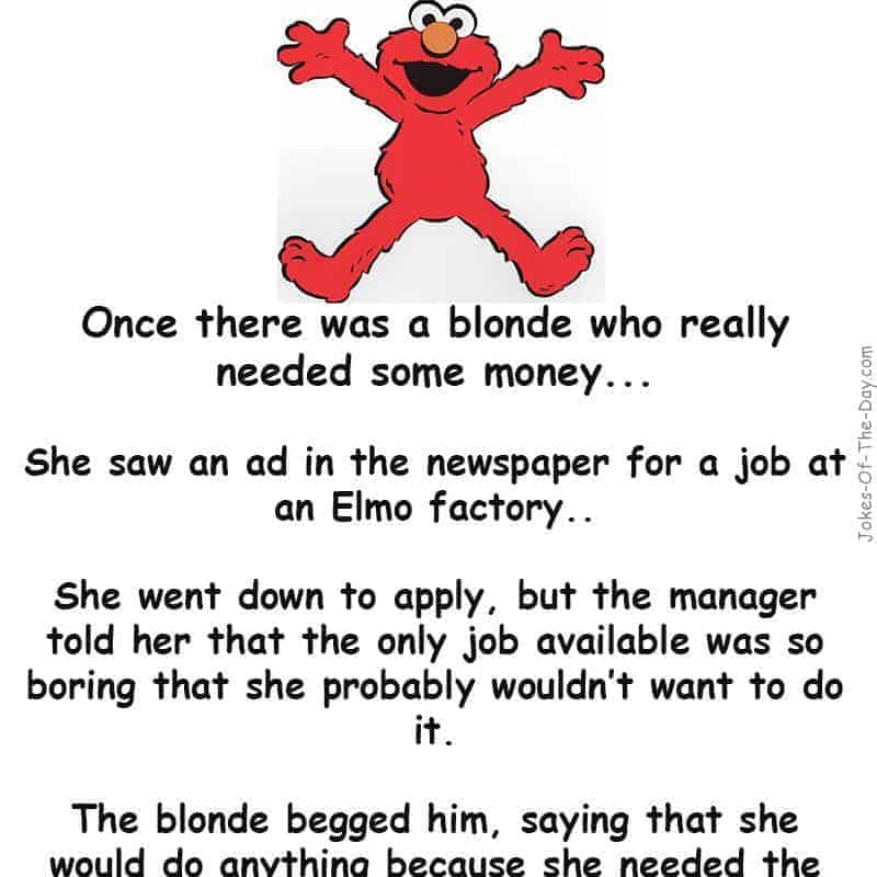 A blonde needs money - funny blond joke
