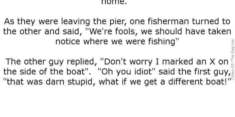 two men fishing funny joke