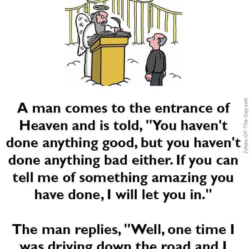 joke about going to heaven