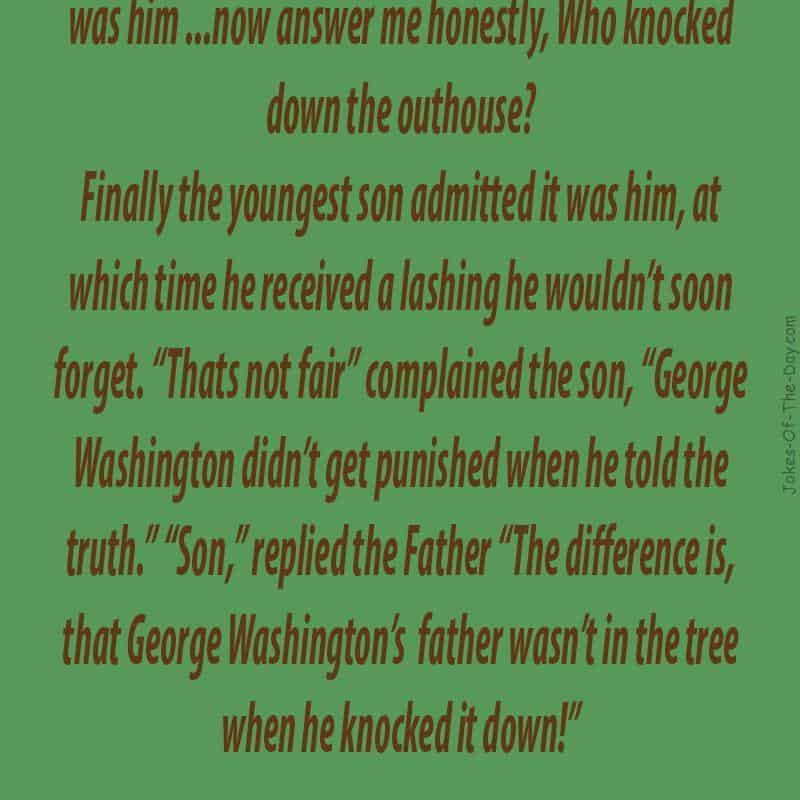 funny george washington joke