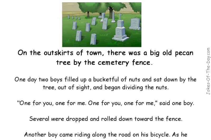 Two Boys Counting Nuts In The Cemetery Hilarious Joke