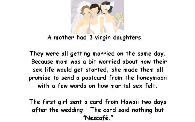 A mother had 3 virgin daughters - Funny Adult Humor