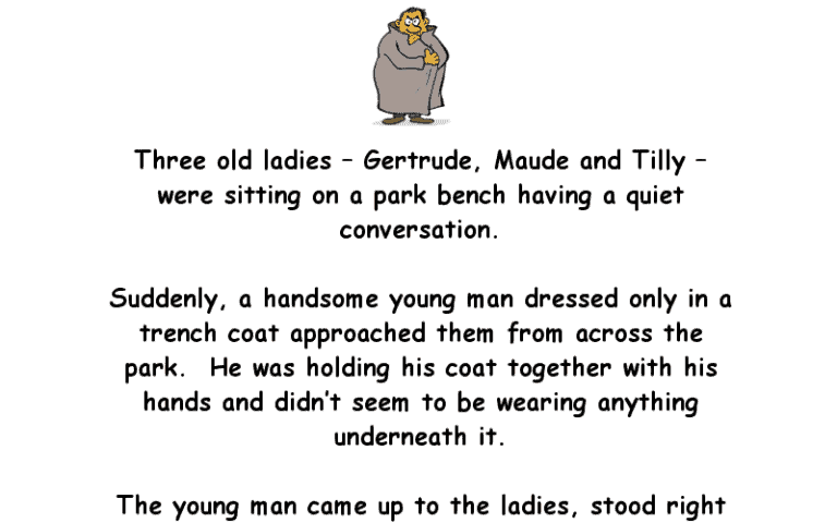 Three Old Ladies And The Flasher Adult Joke