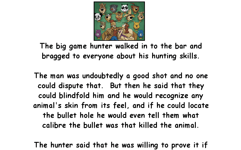 The Big Game Hunter Walked Into A Bar Funny Adult Joke