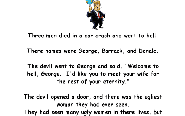 Three Men Die And Go To Hell Joke Of The Day
