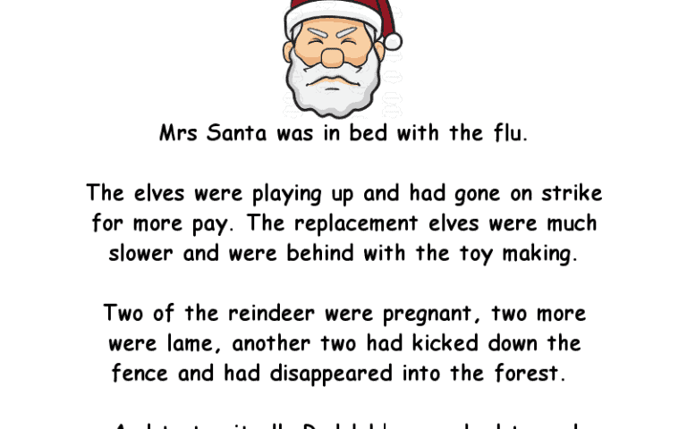 A Funny Christmas Story About Santa
