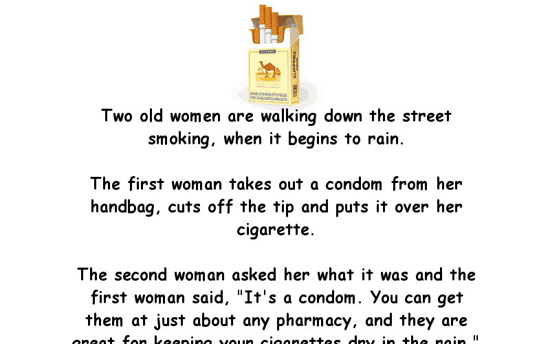 Funny Joke About Smoking Camel Cigarettes