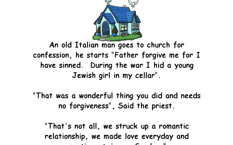 Joke About An Old Italian Man Going To Church For Confession