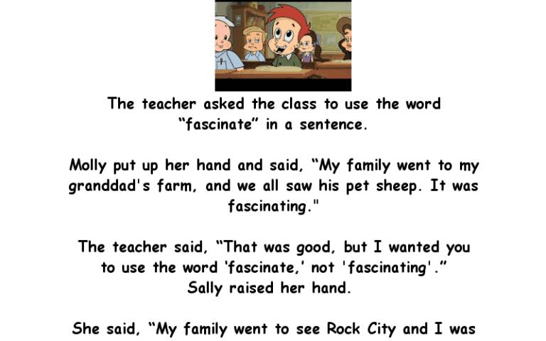Joke About Little Johnny In Class