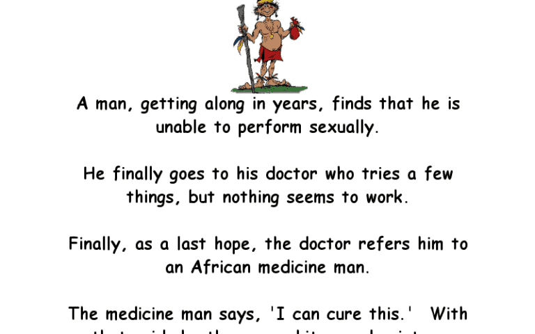 Really Funny Adult Joke About A Man Visiting A Witch Doctor