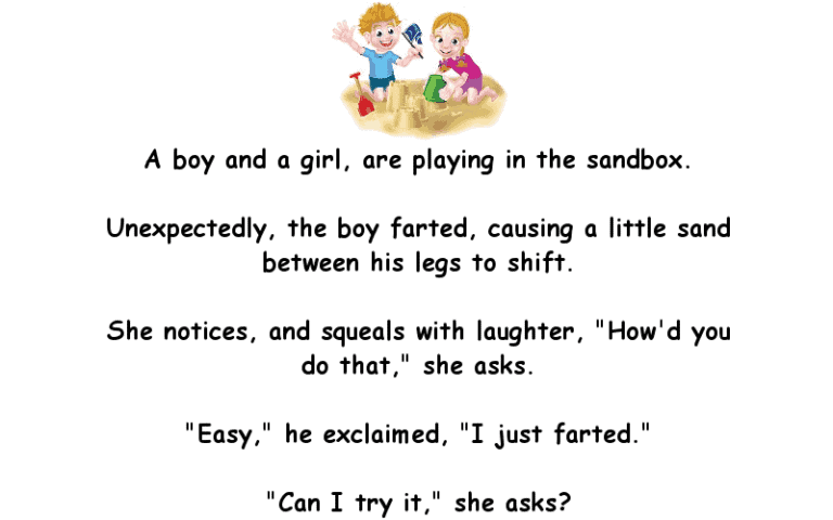 The Boy Unexpectedly Farts In The Sandbox Funny Clean Joke Of The Day