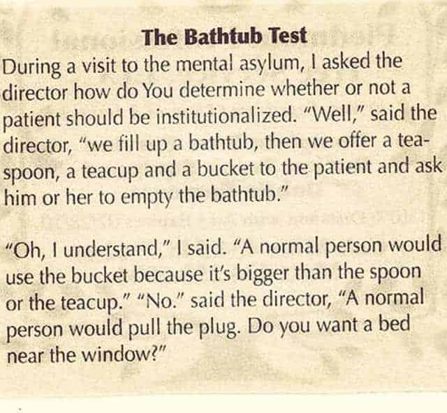 The Bathtub Test - Funny Clean Joke Of The Day