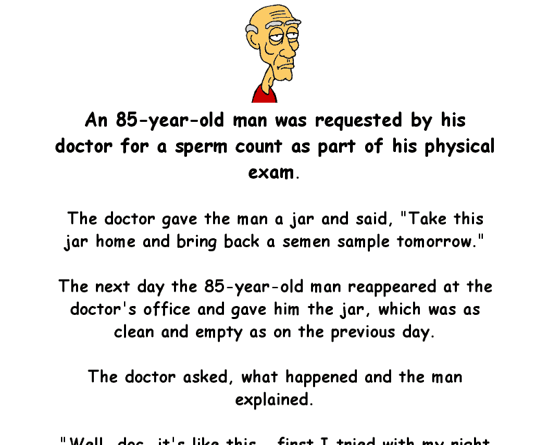 An old man goes to the doctor for a physical - adult funny joke of the day