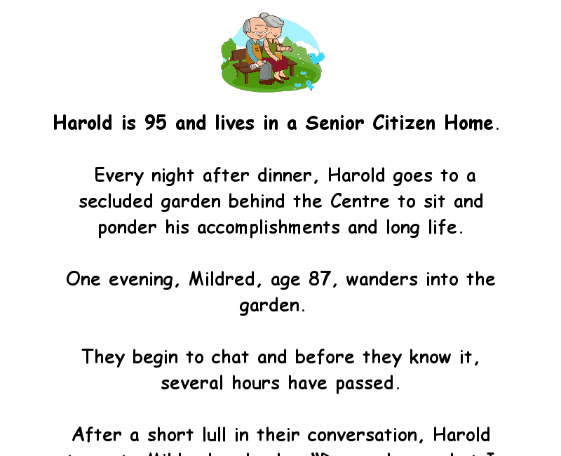 The story of old harold, who had some naughty desires - funny adult joke of the day
