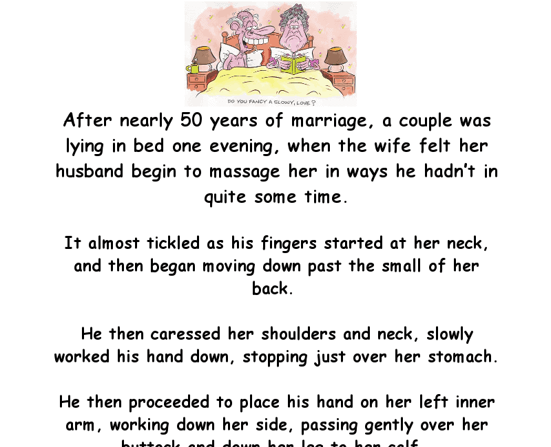Things heat up in bed for the old couple - funny adult joke
