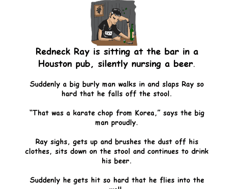 Bar joke - redneck ray is sitting at the bar in a houston