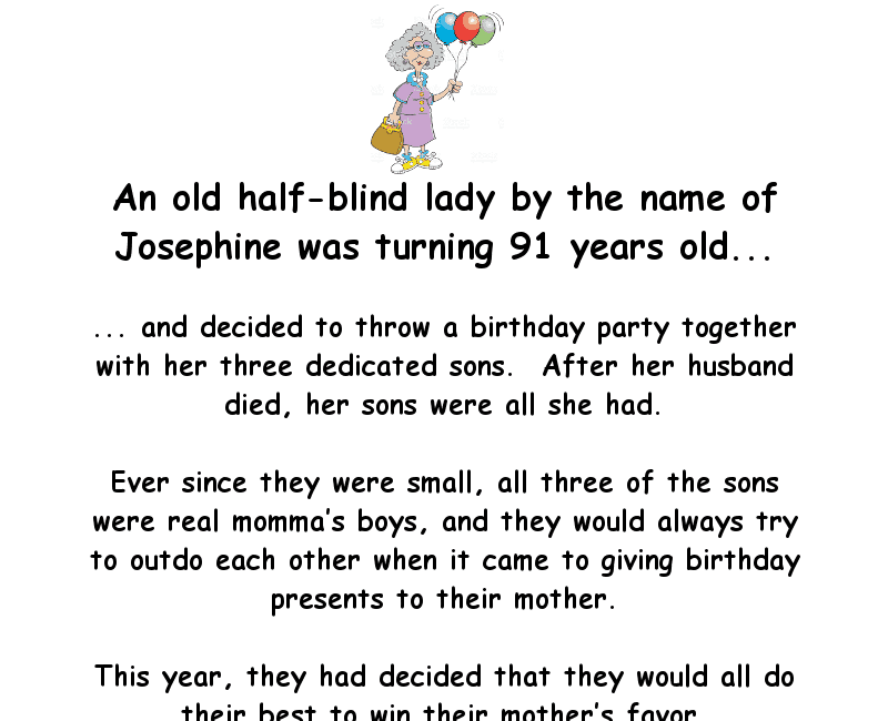An Old Lady Has A Birthday Party Jokes Of The Day