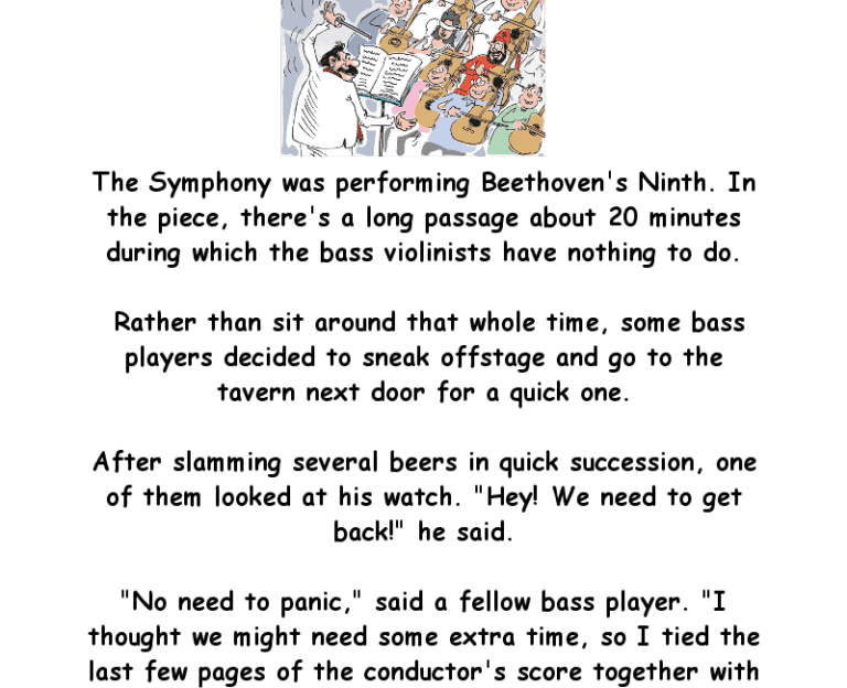 The symphony was performing beethoven's ninth - Funny Clean Joke