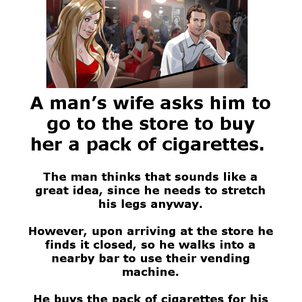 A man cheats on his wife - funny excuse joke