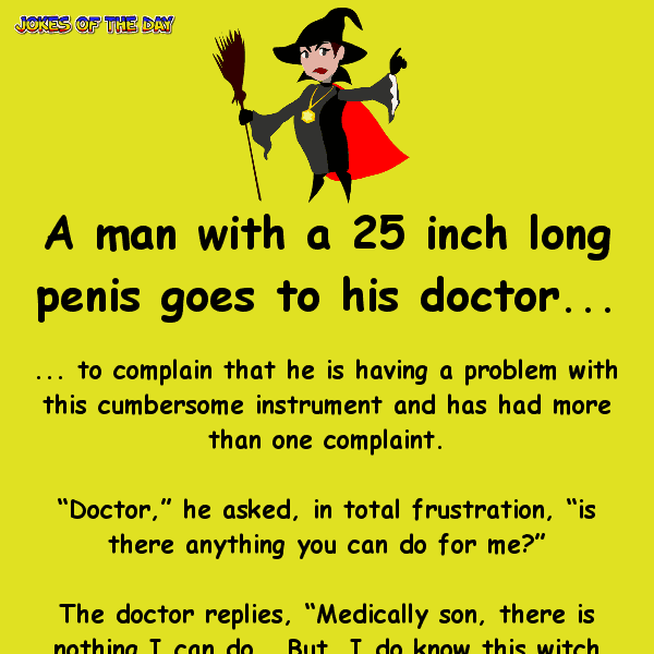 A man with a big penis goes to see his doctor - funny rude joke