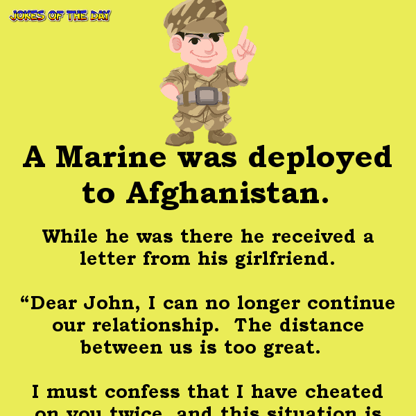 A marine recieved a letter - funny clean army joke