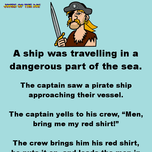 Funny clean joke about a captain and pirates