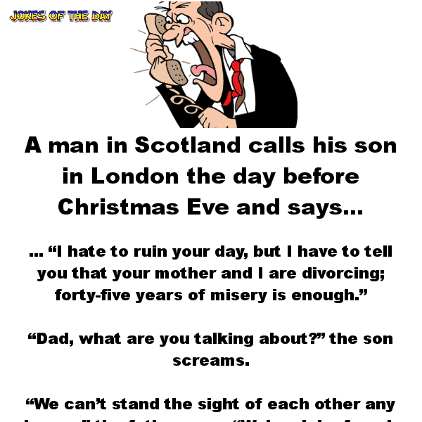 Funny joke about parents on christmas eve