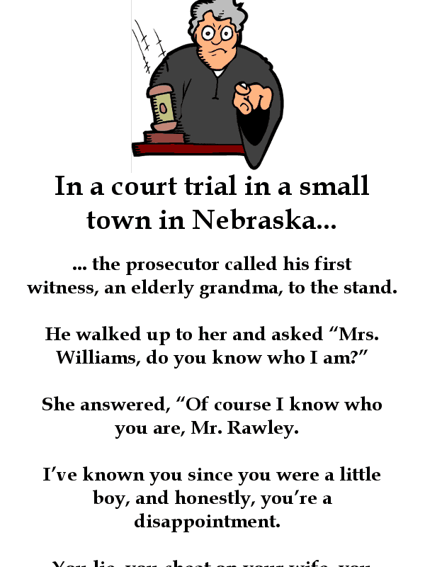 Funny old lady in court joke