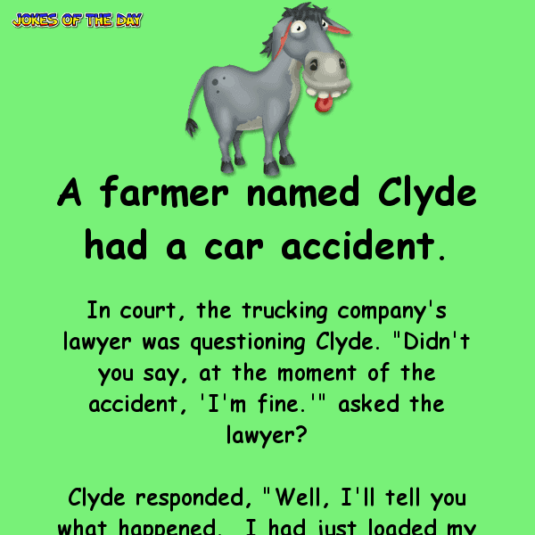 Funny joke about a farmer and his mule