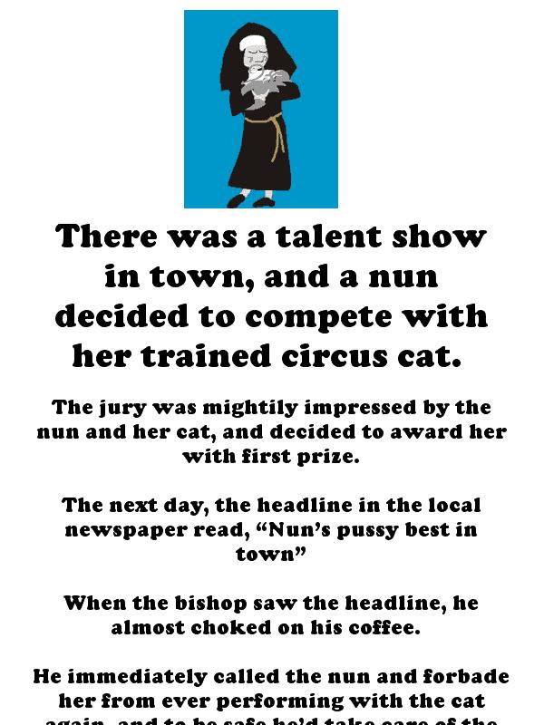 Nun joke - the best pussy in town