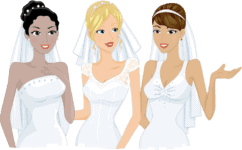 Three brides cartoon