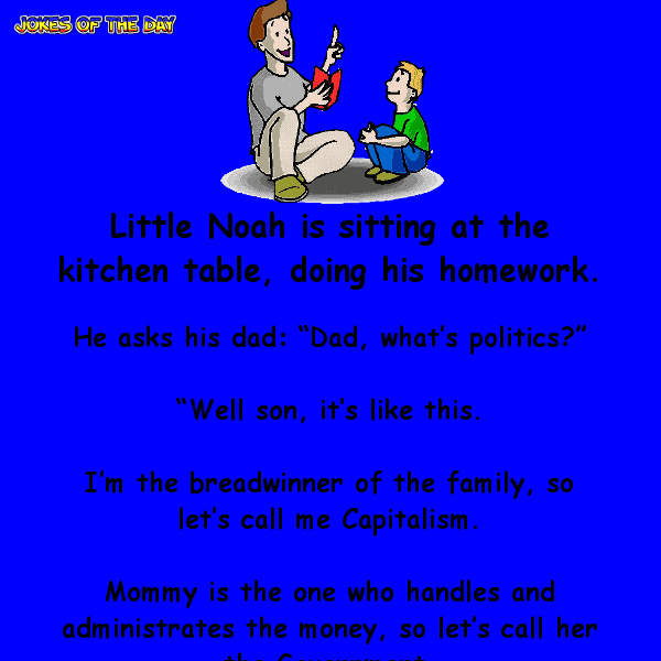 Little boy wants to know about politics - funny joke