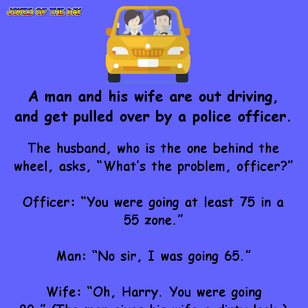 Married couple is pulled over by the police – but the husband wasn't ready for his honest wife's revelation