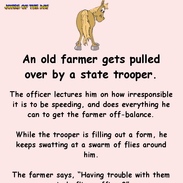 Old farmer gets pulled over by a state trooper - funny clean joke