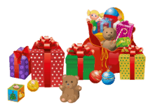 Transparent christmas presents png clipart