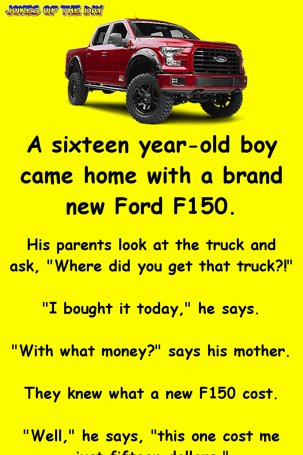 This boy gets a brand new truck for a bargain