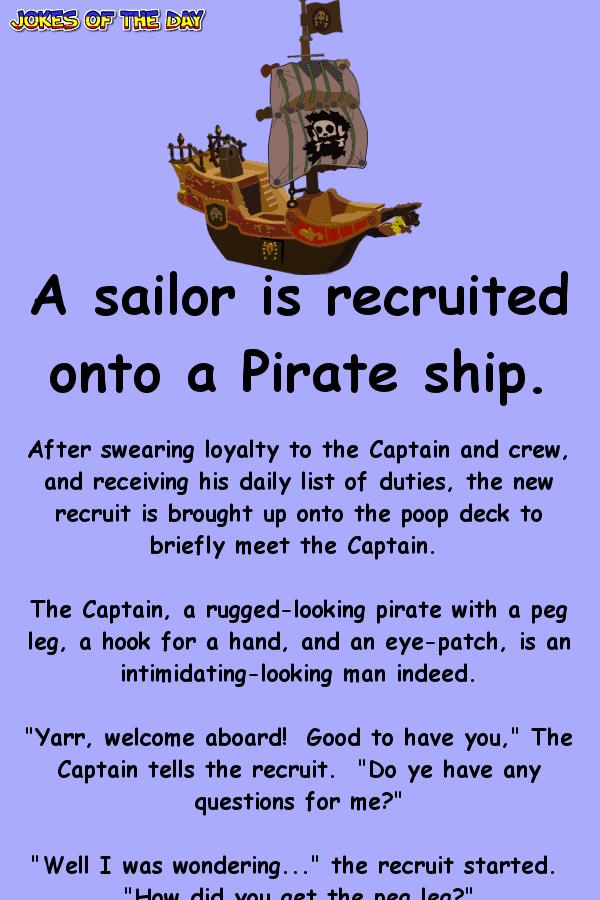 A sailor joins a pirate ship