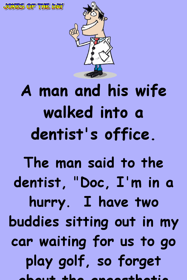 This brave man goes to the dentist