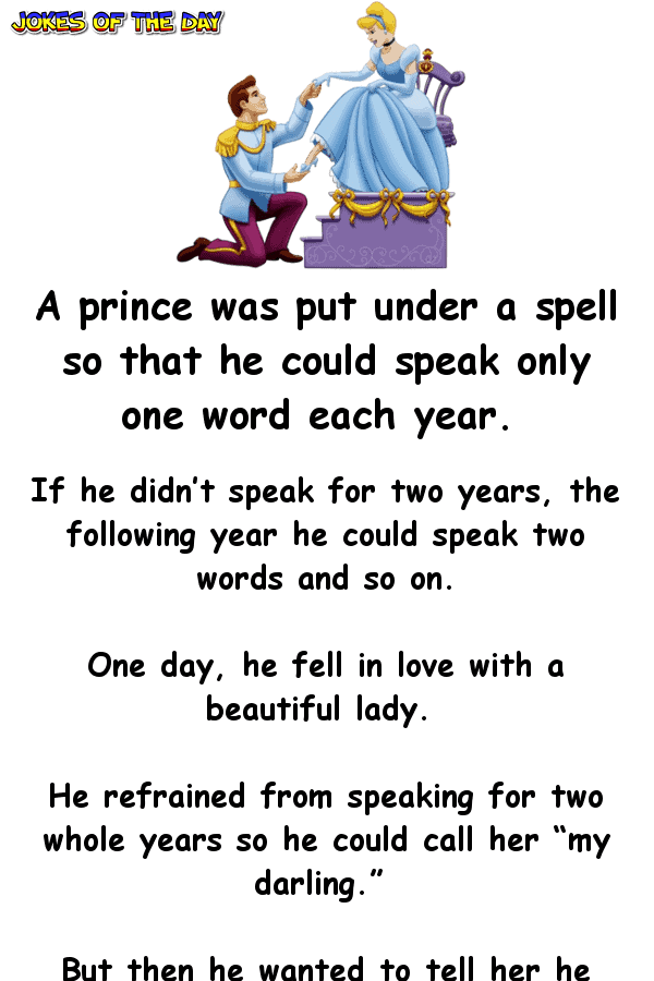 A prince was put under a spell so that he could speak only one word each year