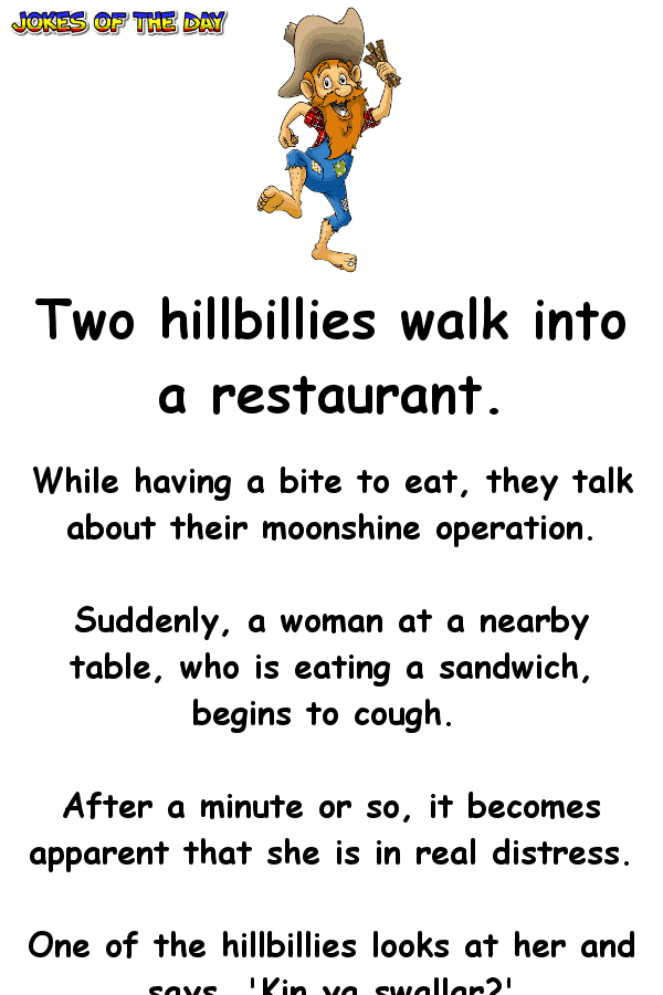 Funny Hillbilly Joke - The hillbilly shocks the woman when he does this to her