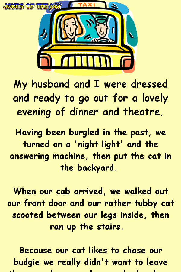 How my Husband and I Terrified a Taxi Driver