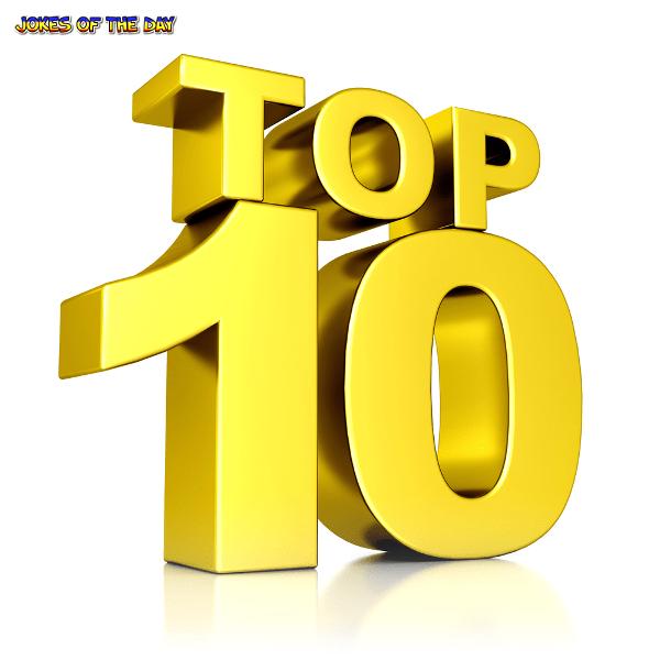 Top 10 Jokes - JokesOfTheDay