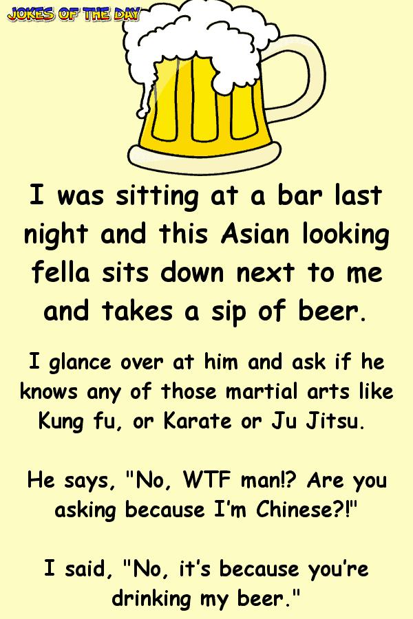 Beer Joke - I was sitting at a bar last night