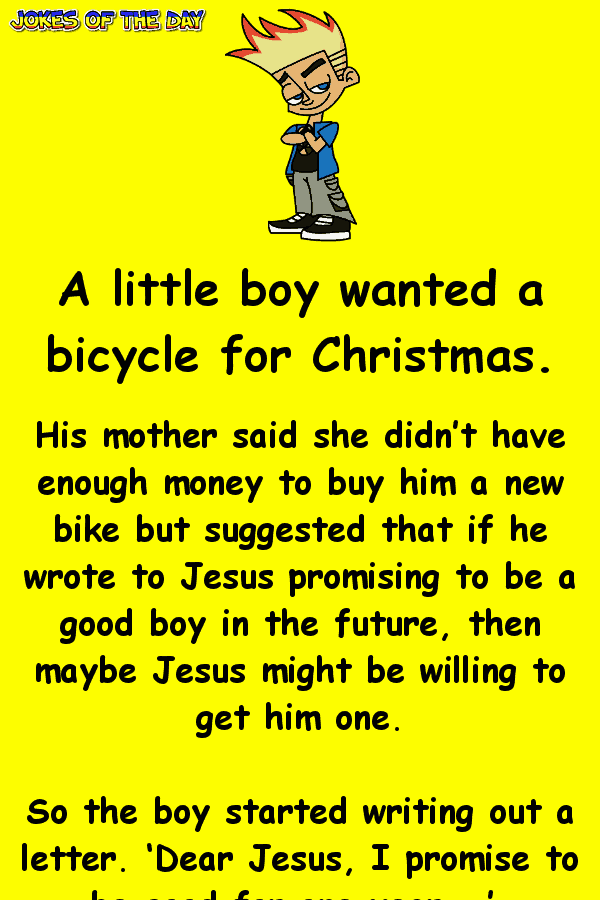 Funny Joke - The little boy had a cunning plan to get his Christmas present
