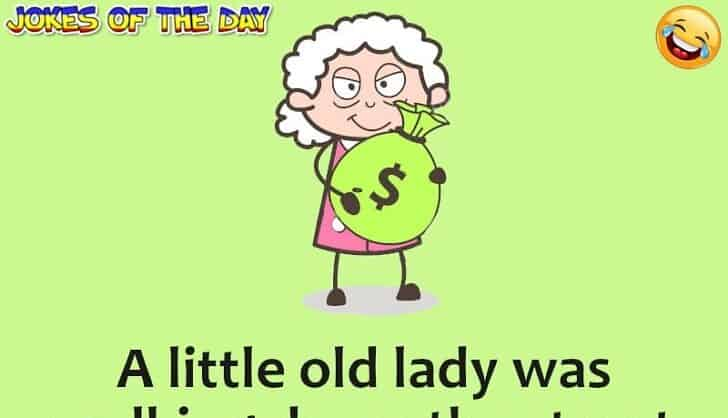Joke Of The Day - The policeman noticed the elder lady dropping money
