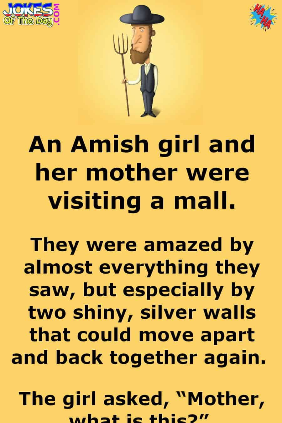 Silly Joke - The Amish Family Visit A Mall